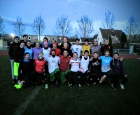 Outdoorsaison 2016 Ultimate Frisbee (hier das Mixed-Training am 7. April)